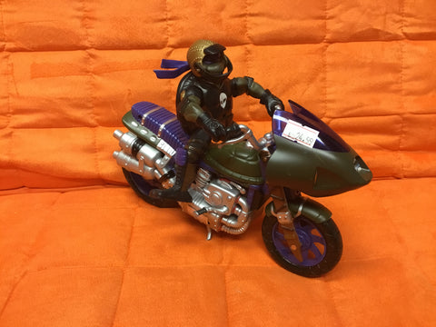 2002 TMNT Motorcycle with Turtle Complete