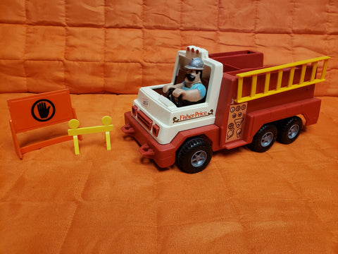 Fisher Price Fire Truck 1983 #336 with figure