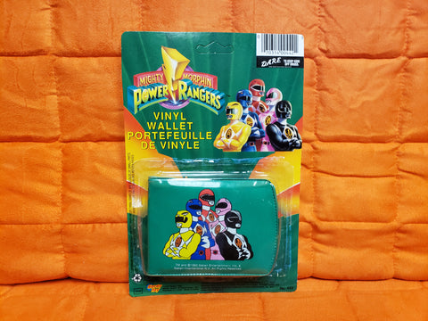 Vintage Mighty Morphin Power Rangers Wallet Vintage 1993 unpunched card