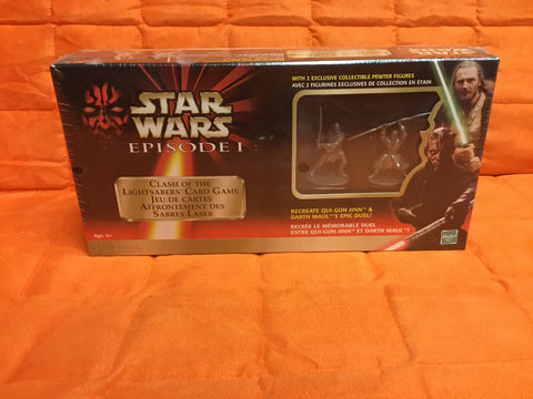 1998 sealed STAR WARS CLASH of the LIGHTSABERS Card Game Episode 1 Sealed w/ Pewter Figures
