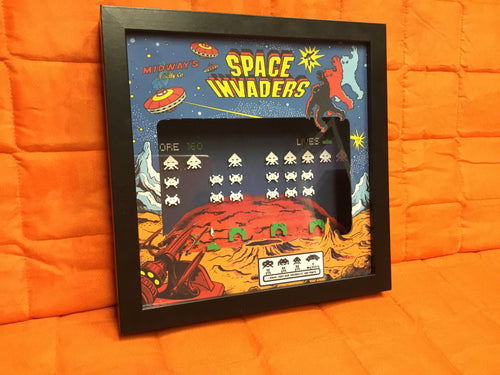 Space Invaders Shadow Box