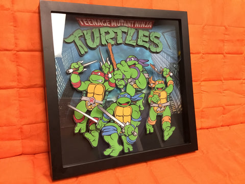 Ninja Turtles Shadow Box