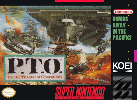 SNES PTO Pacific Theater of Operations Super Nintendo Entertainment