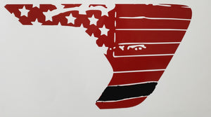 JL/JT 2 Color Reflective Tattered Flag Fender Vent Decal