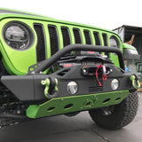 Red Summit Jeep JL/Gladiator JT Heavy Duty Front Winch Bumper and Skid Plate - Single Color