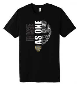 RISE AS ONE, black, Bella, 3501, mt Vernon football