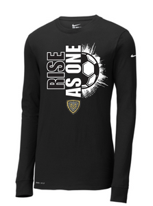 Mt Vernon RISE AS ONE 2020 Soccer Nike DriFit Long Sleeve