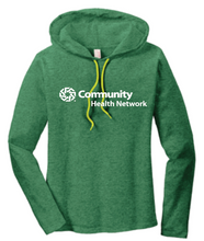 Load image into Gallery viewer, Community Health Network Ladies Long Sleeve Hooded Shirt