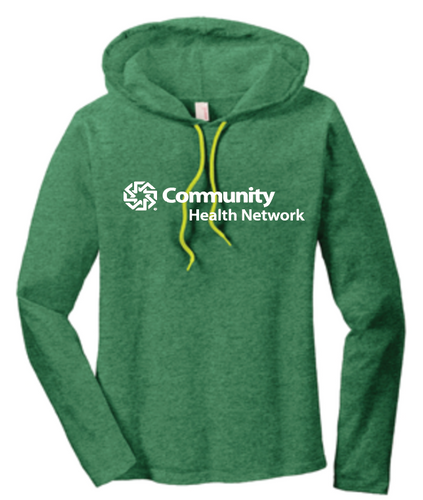 Community Health Network Ladies Long Sleeve Hooded Shirt
