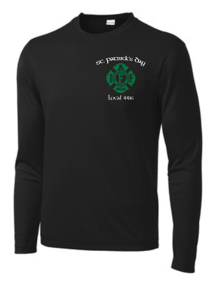 L4416 St Patrick's Day Moisture Wicking Long Sleeve