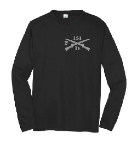 Black Moisture Wicking Long Sleeve