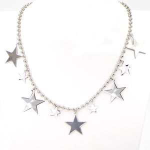 Multi stars on ball chain necklace