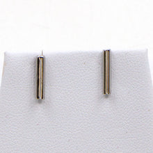 Load image into Gallery viewer, 925 silver bar stud earrings