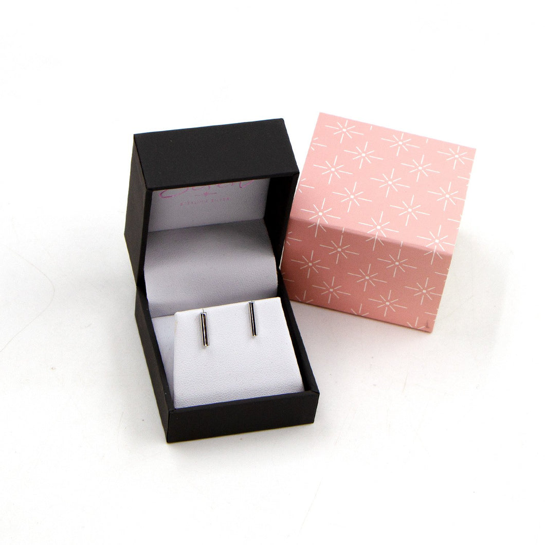 925 silver bar stud earrings