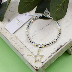 Stretchy open star bracelet