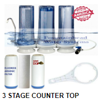 3 Stage Counter Top Water Filter (Sediment/GAC/KDF/Carbon)