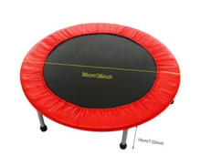 "Load image into Gallery viewer, Foldable 38"" Mini Trampoline Rebounder - Max Load 300lbs"