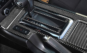 CARBON FIBER CENTER CONSOLE TRIM FOR 2010-2014 MUSTANG
