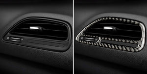 Carbon Fiber Passenger Air Vent Trim For 2015-2020 Dodge Challenger