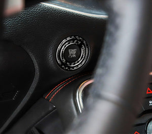 Carbon Fiber Start Button Trim For 2015-2020 Dodge Challenger