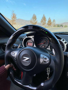 2009+ Nissan 370z Carbon Fiber Steering Wheel With LED Display