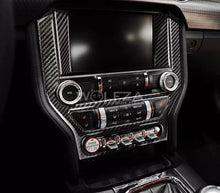 Load image into Gallery viewer, 2015-2019 Mustang Carbon Fiber Radio Trim