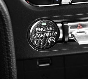 2015-2019 Mustang Carbon Fiber Engine Start Trim