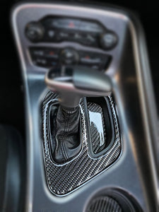 Dodge Challenger Carbon Fiber Shifter Trim & Cup Holder Trim