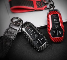 Load image into Gallery viewer, Carbon Fiber Key Fob Case For 2015-2020 Mustang