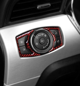 Carbon Fiber Headlight Switch Trim For 2015-2019 Mustang