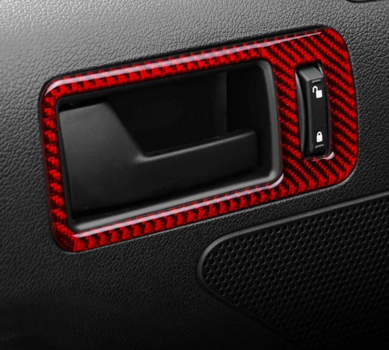 Carbon Fiber Door Handle Trim For 2010-2014 Mustang