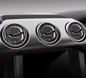 Carbon Fiber Air Vent Trim For 2015-2019 Mustang
