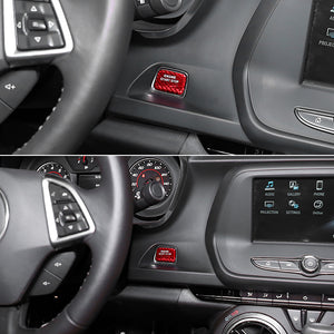 Carbon Fiber Engine Start Button Cover Trim For 2016-2019 Camaro/2014-2019 Corvette C7
