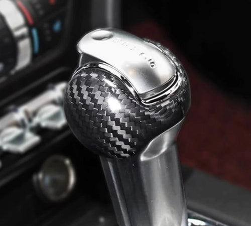 Carbon Fiber Shift Knob Trim For 2015-2019 Mustang