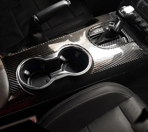 Carbon Fiber Center Console Trim for 2015-2019 Mustang
