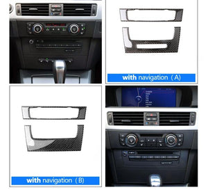 Carbon Fiber Radio Trim For 2005-2012 BMW E90