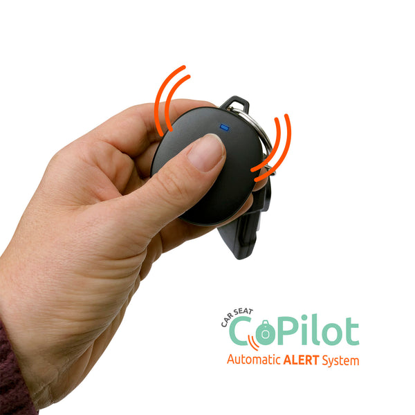 Carseat CoPilot alarm attaches to key ring