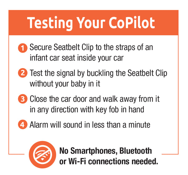 Carseat CoPilot Automatic Alert System for Peace of Mind