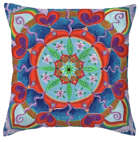 The Seed is Planted Mandala Pillow