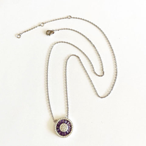 Sunburst Necklace and Amethyst