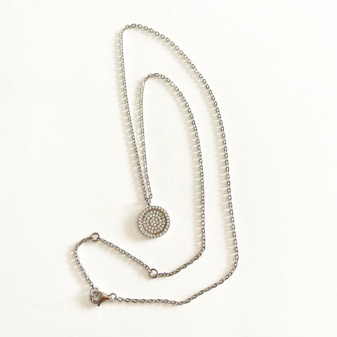 Large Quartz Disc Necklace