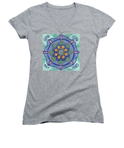 And So It Grows Expansion And Creation - Women's V-Neck