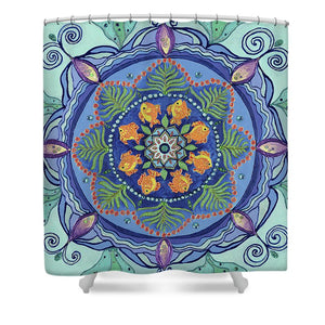 And So It Grows Expansion And Creation - Shower Curtain