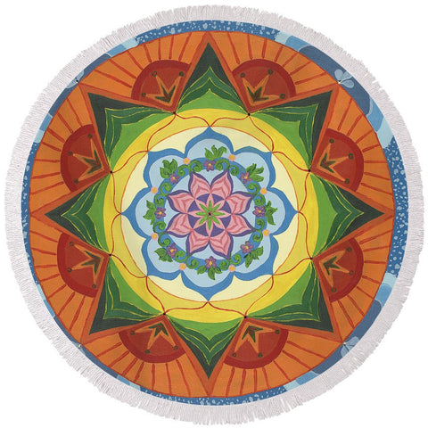 Ever Changing Always Changing - Round Beach Towel