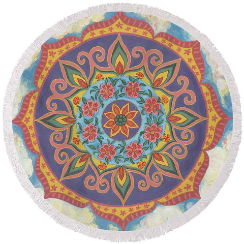 Grace And Ease The Art Of Allowing - Round Beach Towel