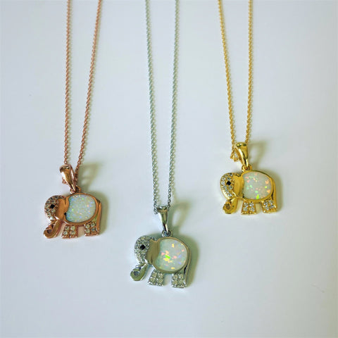 Elephant Opal and Quartz Necklace