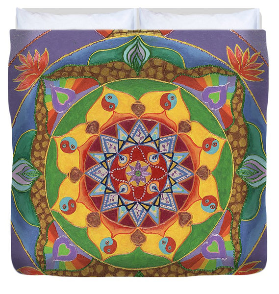 Self Actualization The Individual Need to Evolve - Duvet Cover