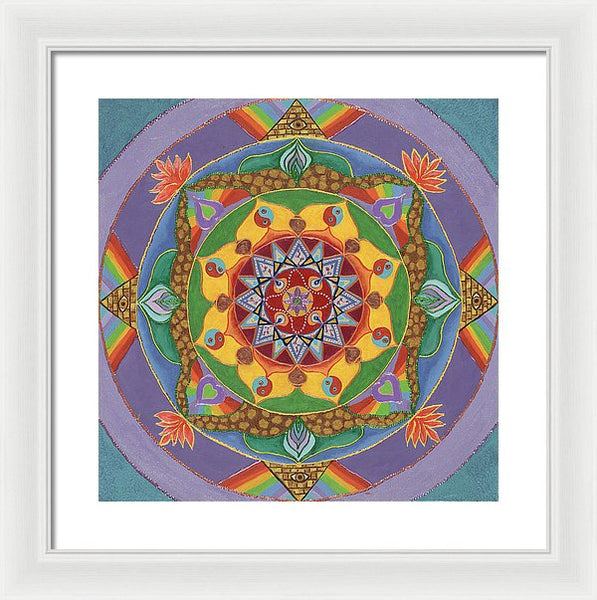 Self Actualization The Individual Need To Evolve - Framed Print