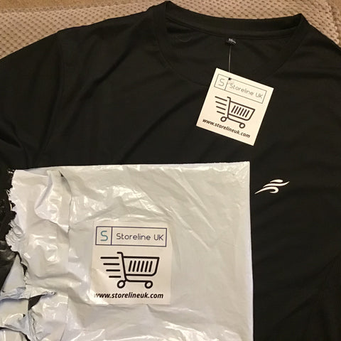 Storeline UK ActiveWear T Shirt with packaging