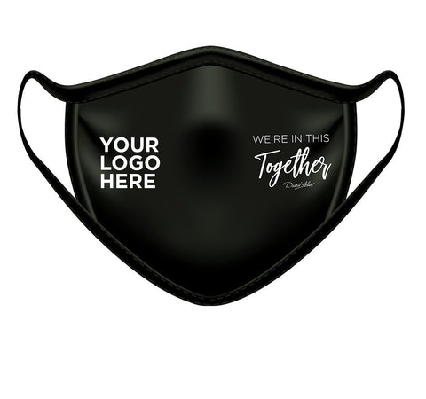 protection mask with custom logo for your business by david alan clothing